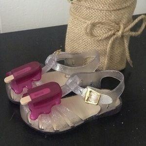 Mini Melissa glitter popsicle jelly sandals shoes